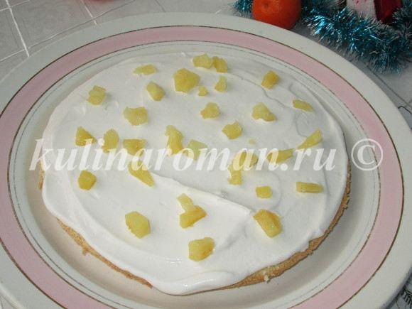 торт с ананасами рецепт