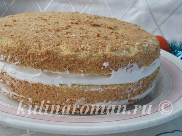 бисквитный торт пошаговый рецепт