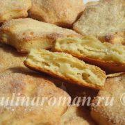 слоеное печенье с творогом