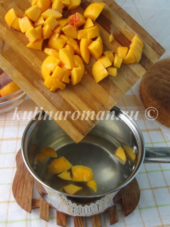 Бисквитный торт с персиковым суфле - рецепт пошаговый с фото