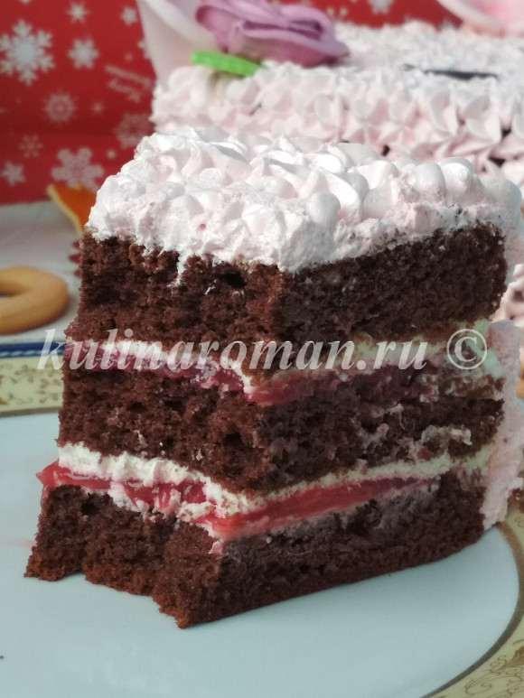 вкусный шоколадный торт новогодний