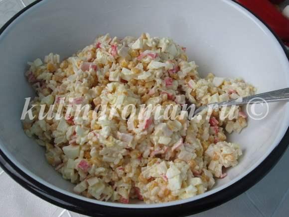 салат с крабовыми палочками пошаговый рецепт