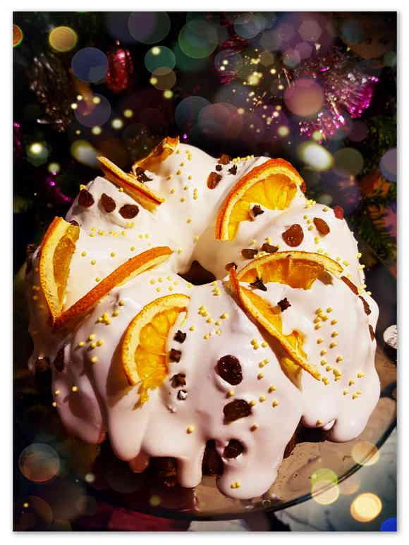 Рождественский кекс с сухофруктами