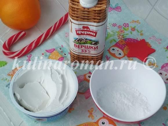 крем творожный рецепт со сливками