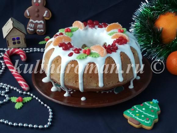 рождественский кекс как украсить