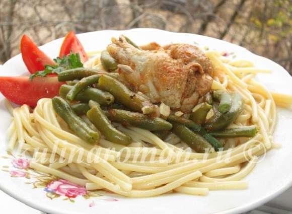 стручковая фасоль рецепт с курицей