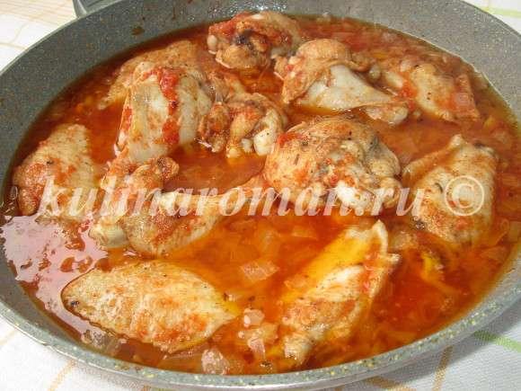 курица тушеная рецепт