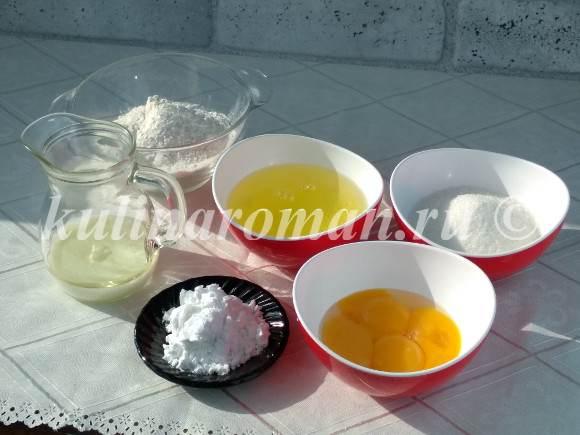 бисквит на молоке и растительном масле