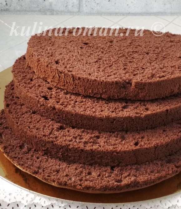 удачный шоколадный бисквит