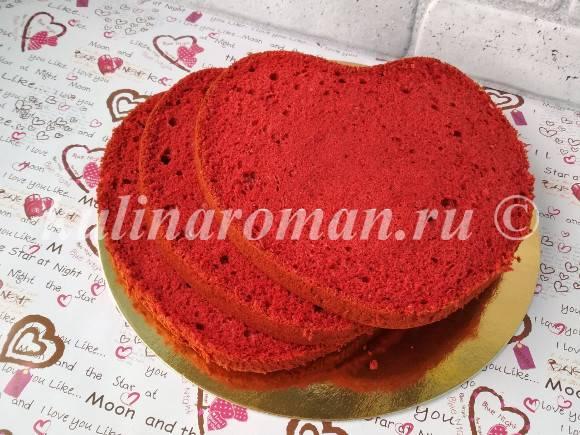 бисквит красный бархат