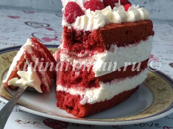 влажный торт красный бархат