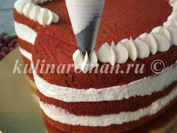 украшаем бисквитный торт