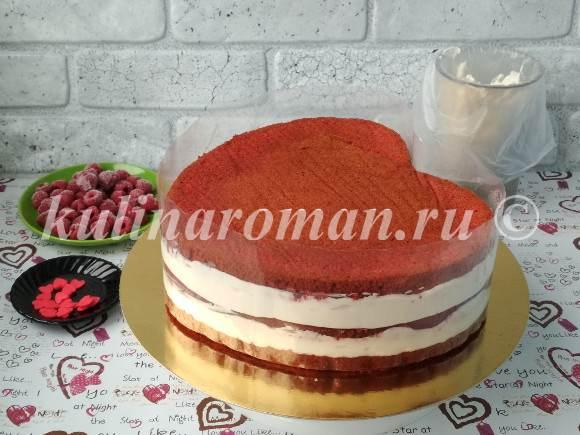 торт из бисквитных коржей