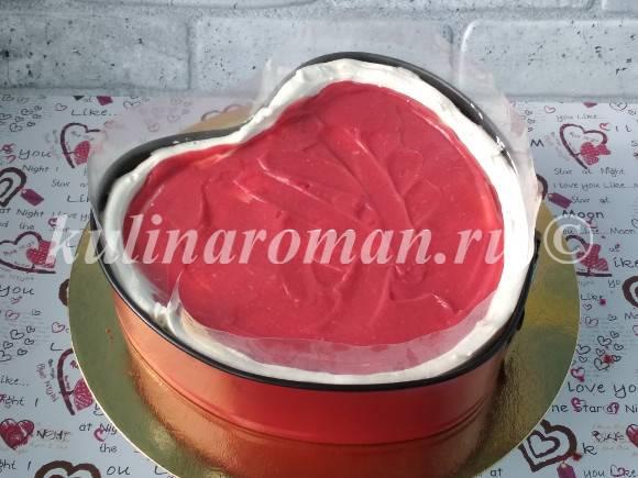 повторяем сборку торта на 14 февраля