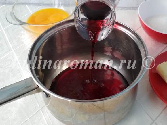 вишневый курд на соке