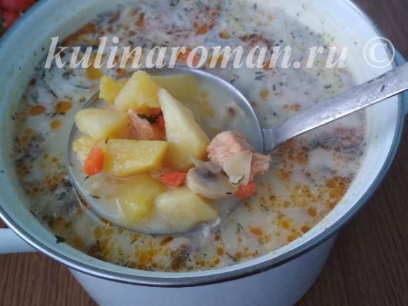 тушеная картошка в соусе с грибами