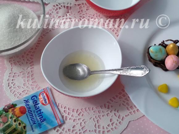 глазурь для куличей с желатином