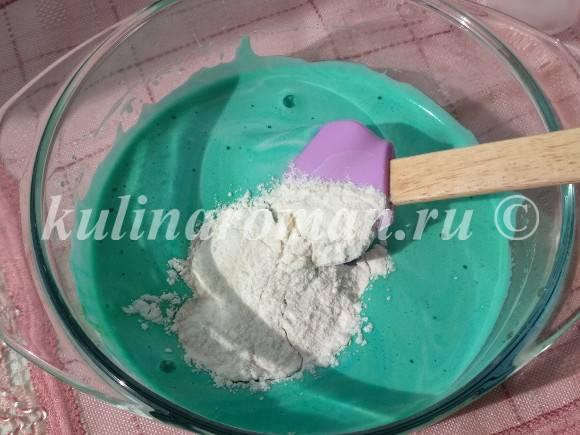 рецепт цветного бисквита