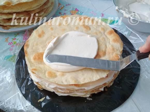 как собрать торт наполеон