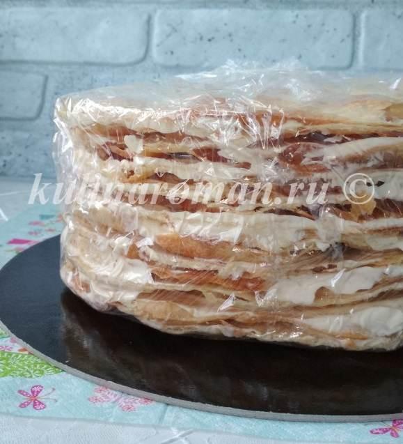 собираем торт наполеон