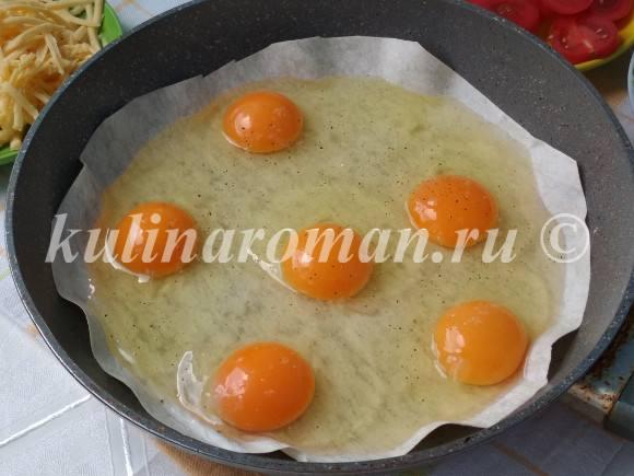яичница на сковороде рецепт