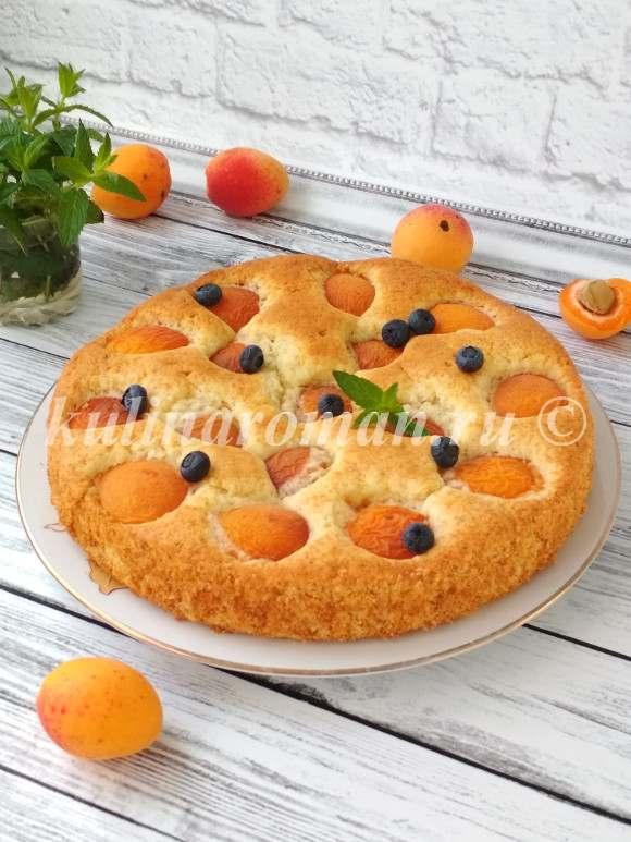 пирог с абрикосами в духовке