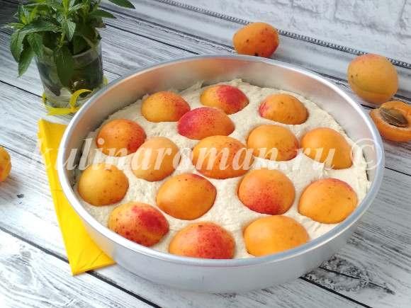 пирог с абрикосами в духовке рецепт