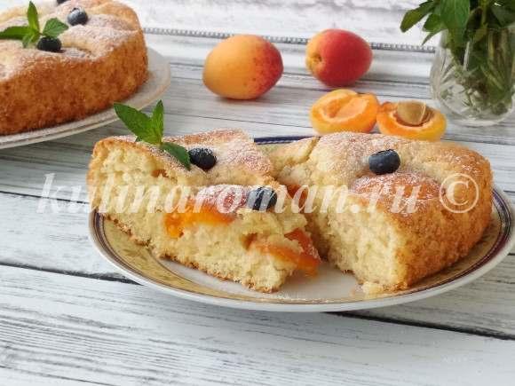 абрикосовый пирог вкусный рецепт