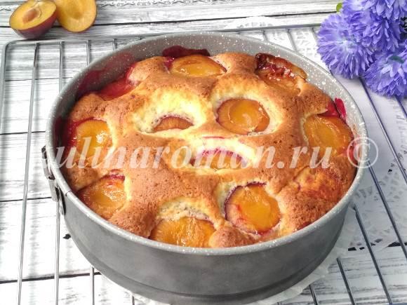 как приготовить быстро сливовый пирог