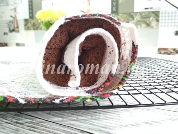 простой рецепт бисквитного рулета