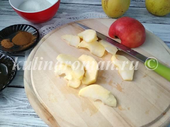 в карамели яблоки