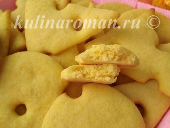 кукурузное печенье на новый год