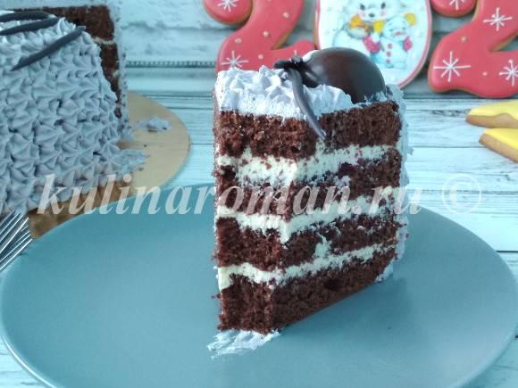 шоколадный торт со сметанно заварным кремом