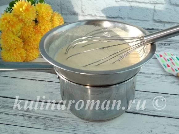 рецепт сметанно заварного крема