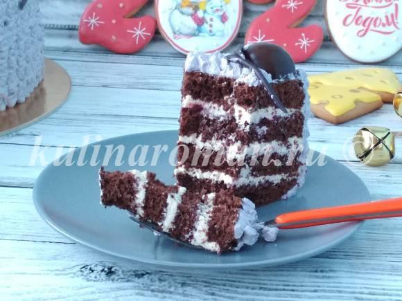 шоколадный торт на новый год рецепт