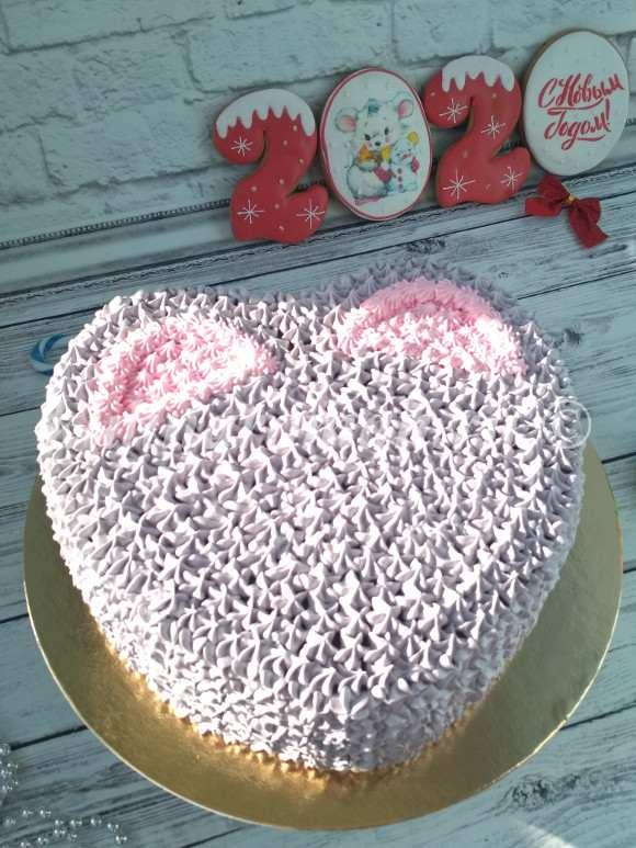 торт мышка на новый год