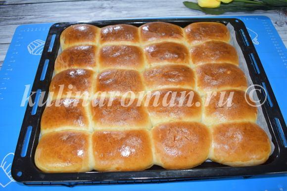 булочки румяные на кефире