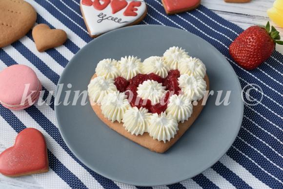торт сердце рецепт с фото