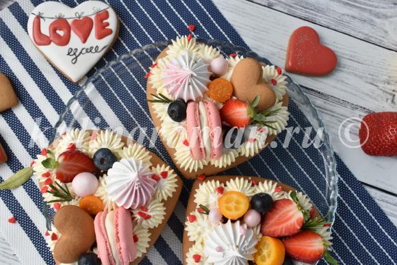 торт сердце рецепт