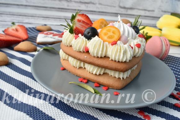 мини торт сердце