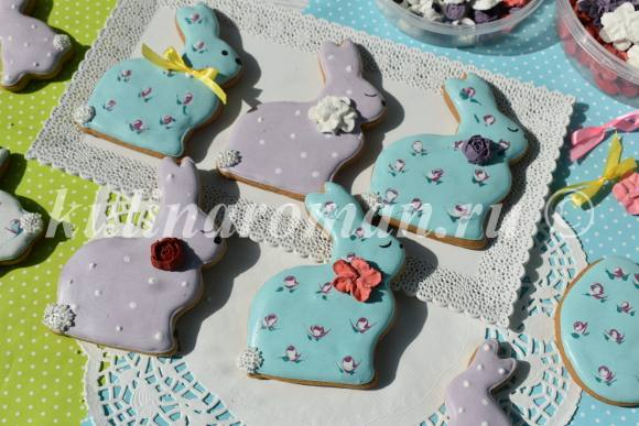 пряники пасхальные кролики