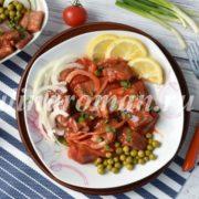 сельдь маринованная в томатном соусе