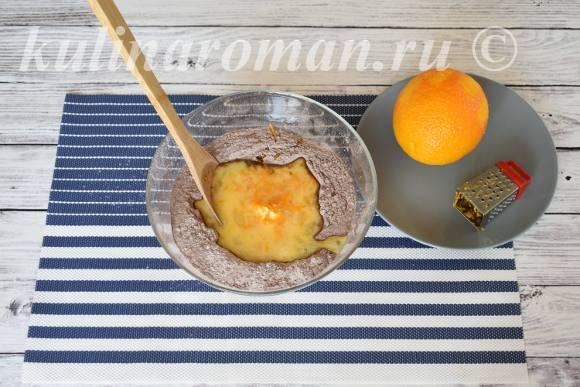 печенье шоколадное с апельсиновой цедрой
