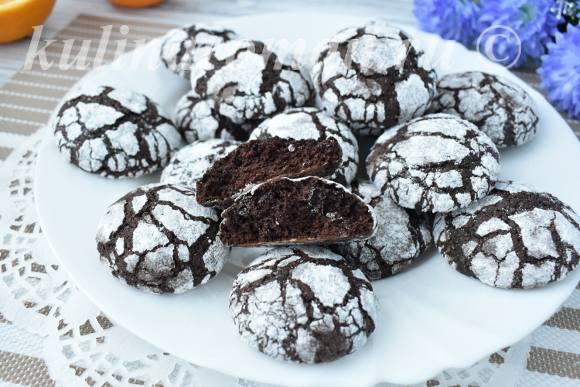 шоколадное печенье с трещинками пошаговый рецепт