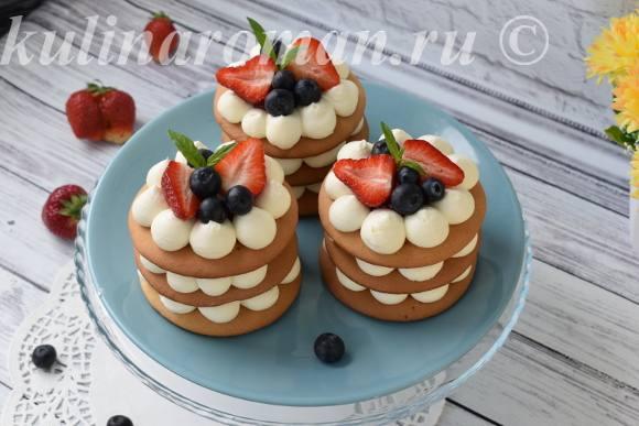 мини пирожные