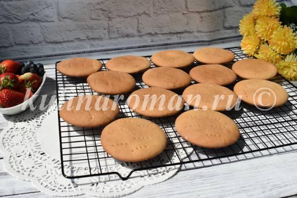 медовые коржики для торта