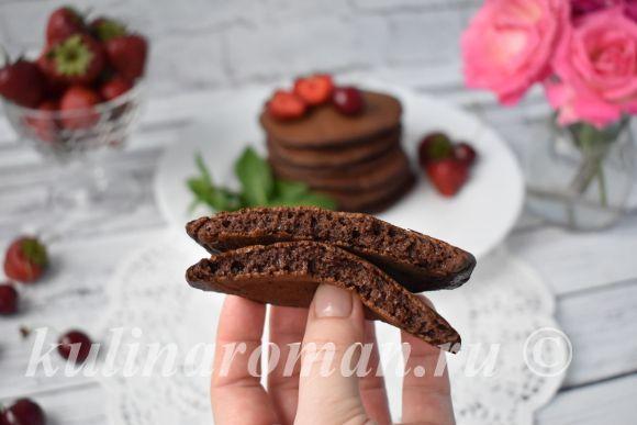как приготовить шоколадные панкейки