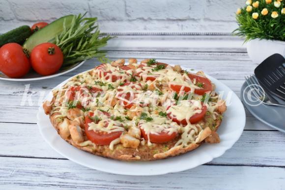 пицца на сковороде кабачковая
