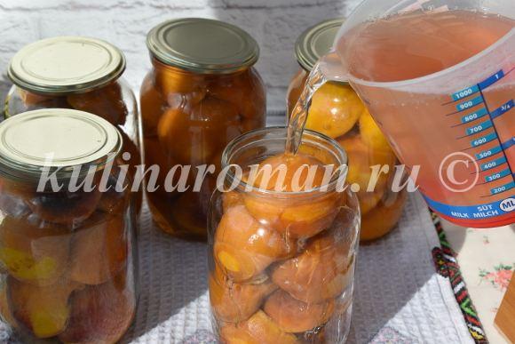 персики в сиропе с лимонной кислотой
