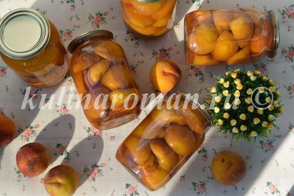 вкусные персики на зиму